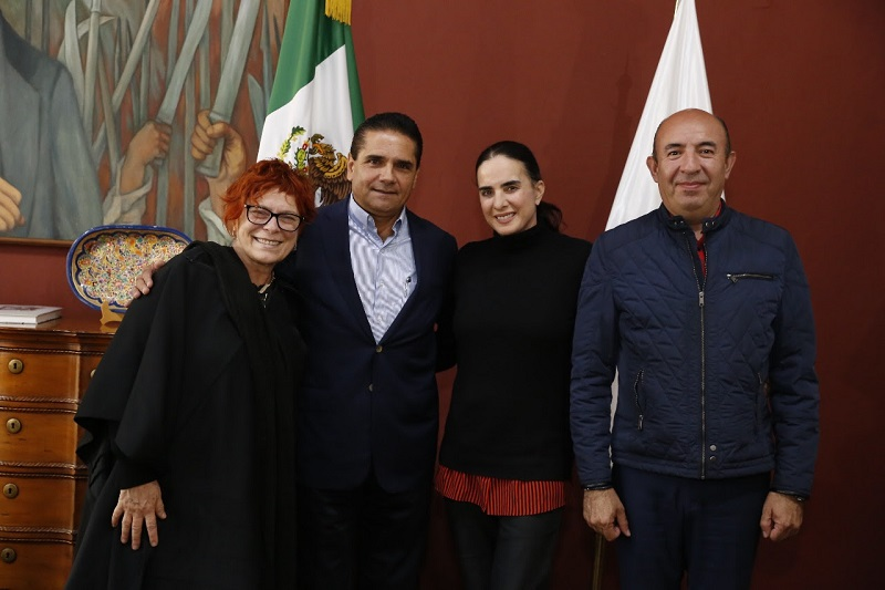 El titular del Ejecutivo en Michoacán refrendó todo el respaldo para poner en marcha a la brevedad este proyecto, a fin de reducir los índices de inseguridad y violencia en las diversas regiones del estado