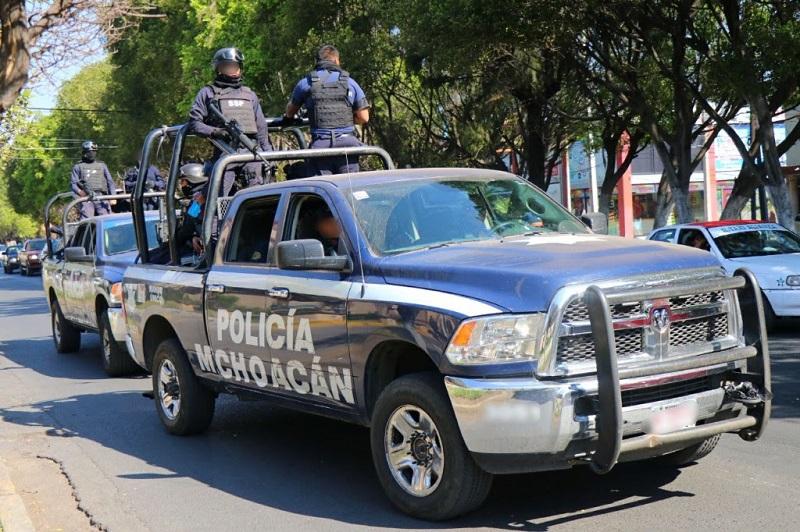 La dependencia estatal mantiene operativos de vigilancia principalmente en las regiones de Morelia, La Piedad, Jiquilpan y Zitácuaro, con la finalidad de inhibir acciones delictivas en estas zonas