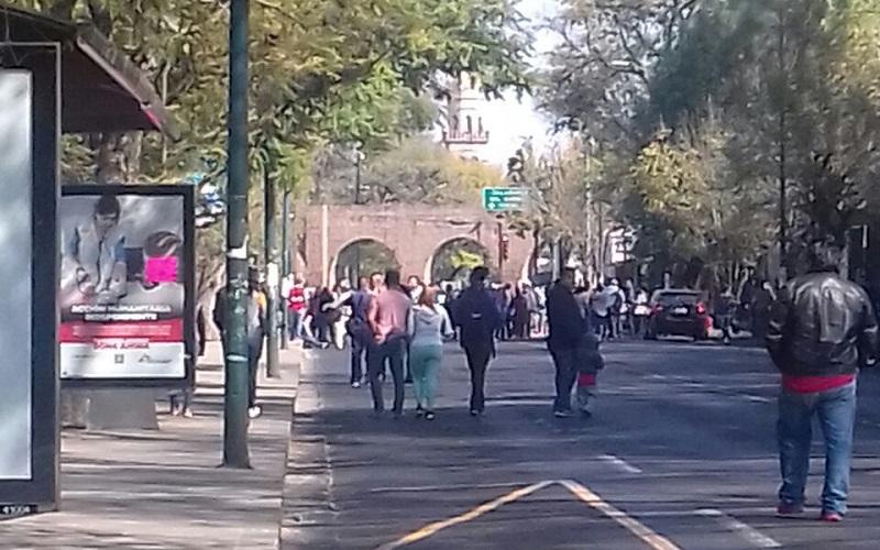 La manifestación provocó un severo caos vial en toda la zona