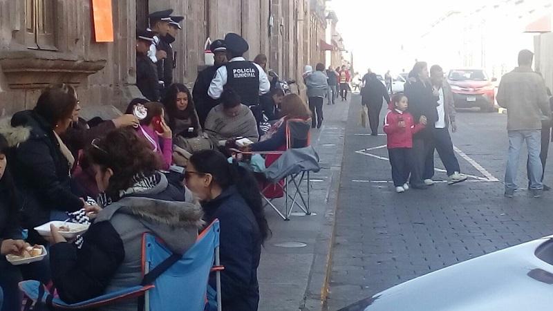 Se reportó la presencia de docentes en las alcaldías de Morelia, Paracho, Chucándiro, Jiquilpan, Quiroga (donde también hubo presencia del SITCBEM)
