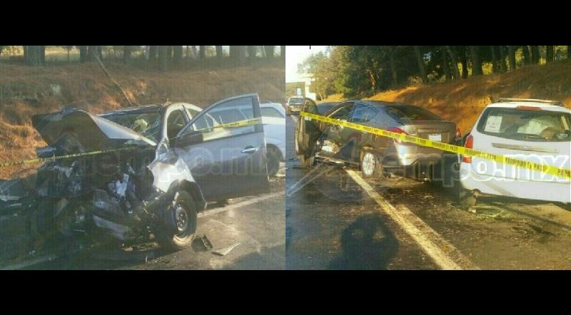 El incidente ocurrió minutos antes de las 18:00 horas cuando reportaron a la base de Rescate y Salvamento un accidente en dos vehículos sobre dicha autopista a la altura del kilómetro 65+300