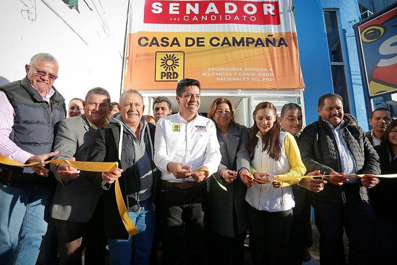 García Conejo abrió su casa de campaña, la cual estará abierta a la militancia y simpatizantes perredistas, así como a la población en general, la cual se ubica en la Avenida Lázaro Cárdenas número 2225, de Morelia