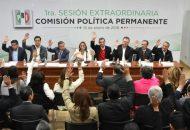 """La Comisión Política Permanente del tricolor avaló por unanimidad el nombre de la coalición, """"el cual representa y concreta el eje de acción política que distingue a Meade para llevar a México al siguiente nivel de desarrollo"""""""