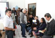 El dirigente estatal del sol azteca, Martín García Avilés, dijo sentirse contento por el flujo de aspirantes que se dieron cita en las instalaciones del CEE