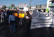 La movilización comenzó en el Obelisco al General Lázaro Cárdenas y concluyó frente a Palacio de Gobierno