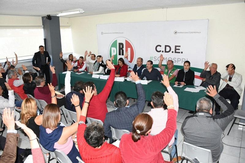 Por este motivo, los priistas michoacanos decidieron postergar los plazos del proceso interno para postulación de candidatos locales