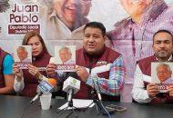 En rueda de prensa, Juan Pablo abundó que la primera línea será difundir el Proyecto Alternativo de Nación que dirige Andrés Manuel López Obrador