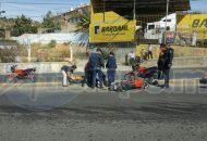 Autoridades correspondientes se hicieron cargo de levantar el peritaje del accidente y retirar la unidad siniestrada