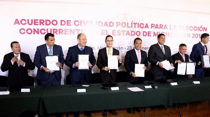 Por los partidos políticos acudieron líderes del PRD, PRI, PAN, PVEM, Movimiento Ciudadano, Nueva Alianza y PES