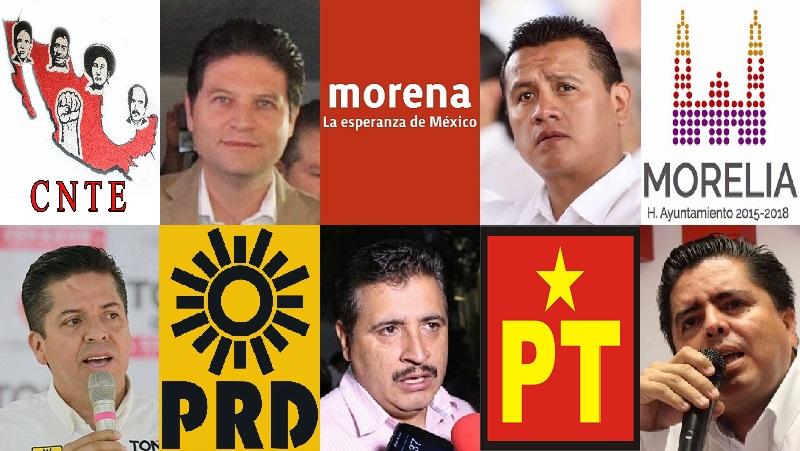 Destaca, por supuesto, el caso de la alianza entre el Morena y la CNTE, que se ha apersonado recientemente en actos de precampaña del precandidato al Senado por el PRD, Antonio García Conejo