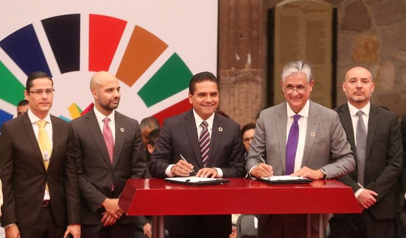 Signan Gobierno del Estado y el Programa de las Naciones Unidas para el Desarrollo, convenio de colaboración para el fomento de una planeación estatal que traduzca el compromiso de México en resultados tangibles a nivel local