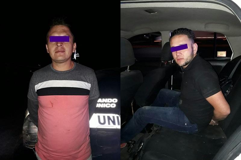 En la detención se identificó a David E., de 25 años de edad, y Jonathan G, de 31 años de edad