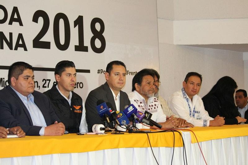 """Por su parte el dirigente estatal de Movimiento Ciudadano, Javier Paredes, señaló que """"es urgente la necesidad de hacer una agenda que pueda ser abrazada por Ricardo Anaya, por eso este esfuerzo a nivel nacional"""""""