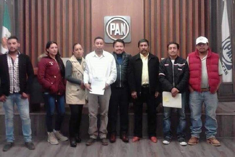 Espino Herrera fue acompañado por militantes panistas de Nahuatzen