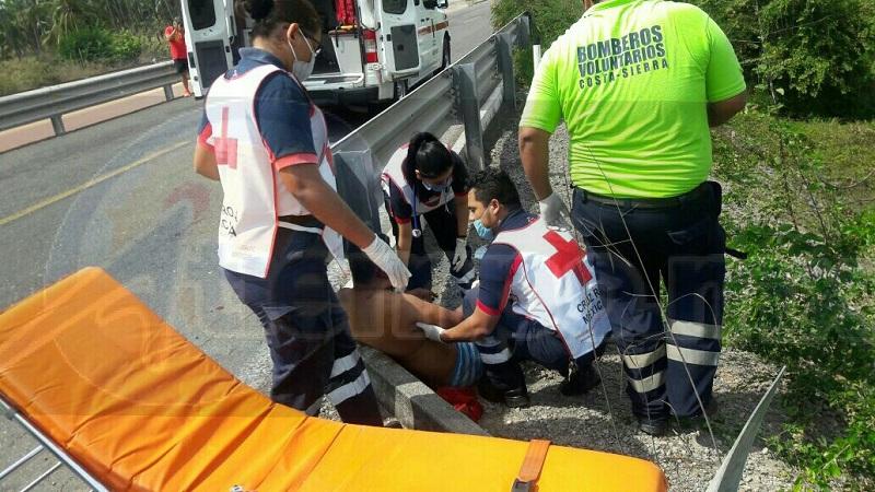 La víctima fue golpeada durante varios días hasta que logró escapar de sus captores, al correr en las inmediaciones de las huertas ubicadas a la altura de Barra de Santana