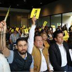 """""""Llegamos en un buen ambiente a este Consejo Electivo en el que muchos se imaginaron o pronosticaron que no llegábamos en ambiente de unidad y fraterno. Los precandidatos fueron a mover las bases de nuestro partido, se trataron con fraternidad y respeto"""", dijo García Avilés"""
