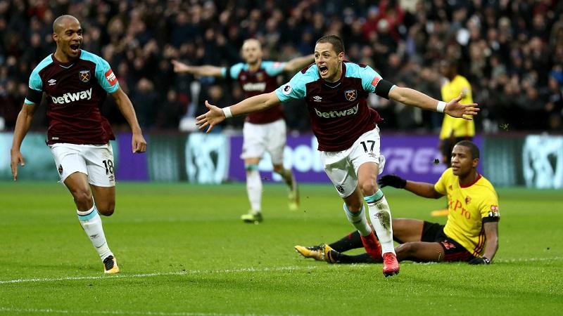 """Con el gol marcado el día de ahora, Javier """"Chicharito"""" Hernández llegó a su anotación número siete en la Premier League"""