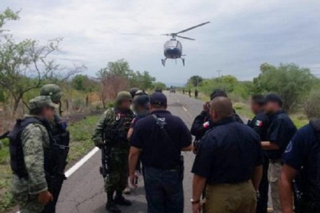 Estos hechos movilizaron a elementos de la Policía Ministerial, Policía Michoacán, Federal y Militar, que llegaron en varias patrullas y cuatro helicópteros, sitiando por completo el municipio de tierra caliente