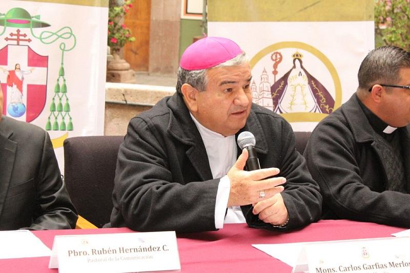 La entrada será libre en la Catedral de Morelia a las 19:00 horas del jueves 15 de febrero, anunció el arzobispo de Morelia, Carlos Garfias Merlos