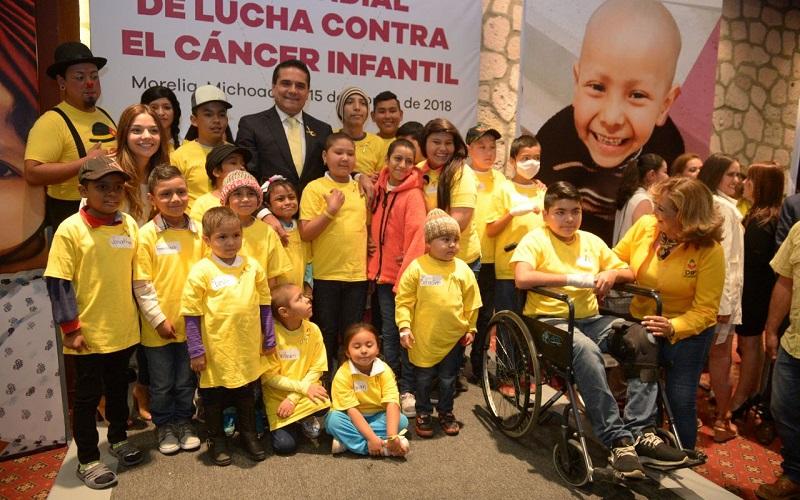 Conmemoran Día Mundial de la Lucha contra el Cáncer Infantil, donde el gobernador de Michoacán llama a visibilizar este problema que tanto lastima al sector infantil y sus familias