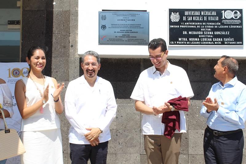 Se trata de la primera licenciatura de la Universidad Michoacana fuera de Morelia en alcanzar la acreditación