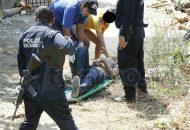 Personal de la Fiscalía de Lázaro Cárdenas arribó al lugar y empezó la carpeta de investigación para dar con los agresores de este hecho