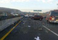 El accidente se registró sobre la carretera Morelia-Salamanca a la altura del kilómetro 12+300, metros antes de la desviación a Tarímbaro