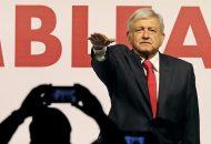 López Obrador dio un mensaje centrado en un llamado a confiar en el proyecto alternativo de nación que fue desglosando punto a punto, entre ellos, los compromisos de respeto a la diversidad sexual y de prensa
