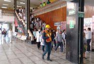 Esto con la finalidad de saber cómo actuar antes, durante y después de un sismo, por lo que estos días se estará realizando una serie de simulacros con el personal, usuarios y derechohabientes de las oficinas administrativas de la sede delegacional, Subdelegación Morelia y la Unidad de Medicina Familiar No. 80