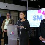 El director del SMRTV, Carlos Bukantz y la titular de la CGCS, Julieta López, reinauguran también el Estudio B