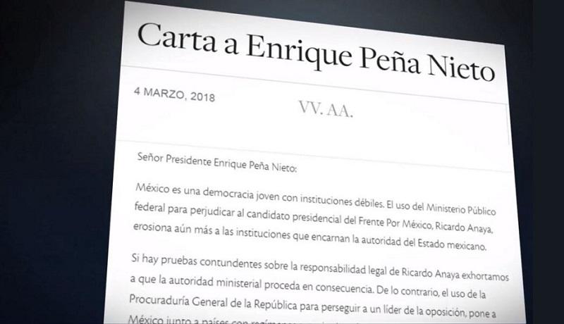 La decisión de quién será el próximo presidente de México le corresponde exclusivamente a las y los ciudadanos mexicanos, afirman periodistas e intelectuales