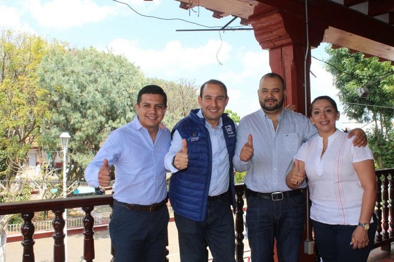 """Respaldaremos a los candidatos de la coalición """"Por Michoacán al Frente"""", que representan los mejores perfiles para lograr el desarrollo de la entidad: Cortés Mendoza"""