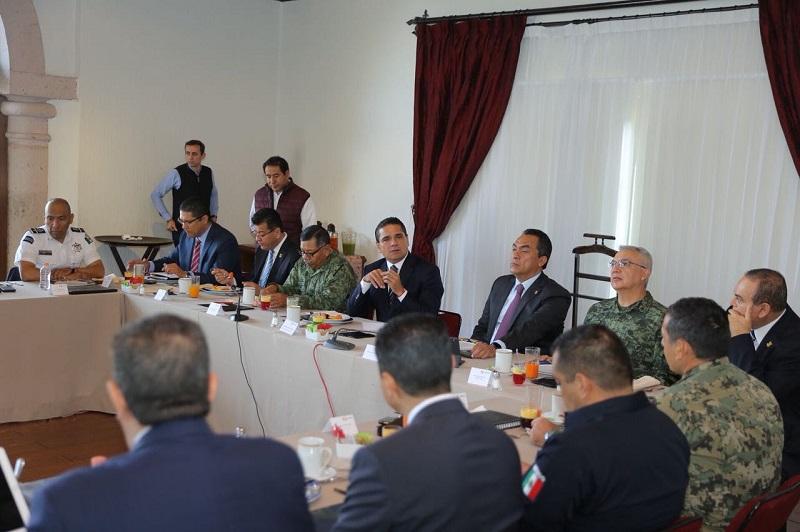 El gobernador Silvano Aureoles encabezó la reunión semanal del Grupo de Coordinación Michoacán