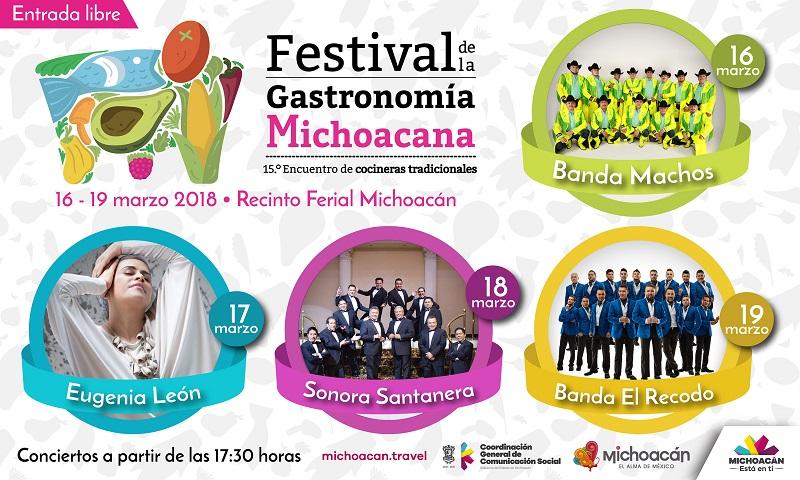 Estos conciertos estelares se llevarán a cabo en la explanada del Teatro del Pueblo del Recinto Ferial Michoacán, ubicado en La Goleta, municipio de Charo, y comenzarán a partir de las 17:30 horas