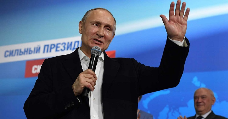Putin obtuvo un 75%, un resultado mucho mejor que el 63.6% obtenido en 2012