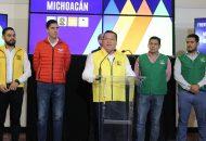 Sobre las candidaturas en las que encabezará el PRD, se anunció que el Sol Azteca lleva mano en 45 municipios, Acción Nacional en 18 y Movimiento Ciudadano en 7