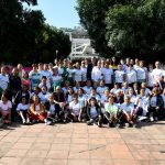 Motivados y convencidos de poner el alto el nombre de Michoacán, los adultos y adultas mayores se despidieron entre porras, orgullosas y orgullosos de portar los colores del estado