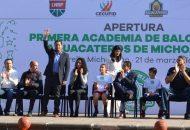 Moncada Sánchez celebró la creación de la Academia la cual no solo está dirigida a la capital del estado, sino que también, como se ha propuesto, se pueda capacitar y formar grupos deportivos en diferentes municipios de la entidad