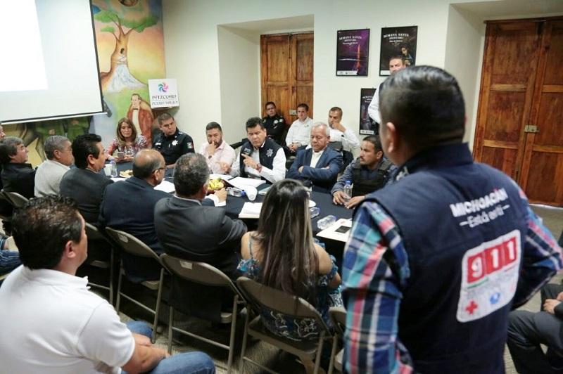 Corona Martínez enfatizó que la seguridad de las y los michoacanos es prioridad para el Gobierno del Estado