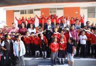 Aureoles Conejo comprometió que esta escuela tendrá a la brevedad su cerco perimetral, el mobiliario para que en su regreso a clases ya cuenten con todo lo necesario para su formación