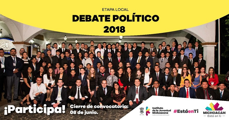 Para consultar la convocatoria íntegra del Concurso Juvenil de Debate Político etapa local, se debe ingresar al sitio web: http://gobmi.ch/2DMm2yj