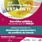 Estrada Esquivel señaló que la estrategia de comunicación Ser Responsable Está en Ti se ha implementado durante el mes de marzo a fin de cumplir con los lineamientos marcados por el IEM