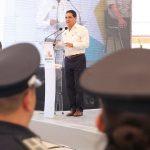 Durante la actual administración se han invertido hasta 6 mil mdp en materia de seguridad, a fin de reforzar las tareas que permitan brindar paz y tranquilidad a la sociedad; destaca el mandatario