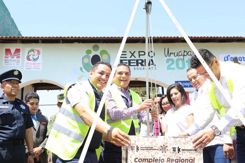 En su mensaje, el mandatario estatal aseguró que la edificación de este Complejo fue uno de los compromisos establecidos con la región Uruapan