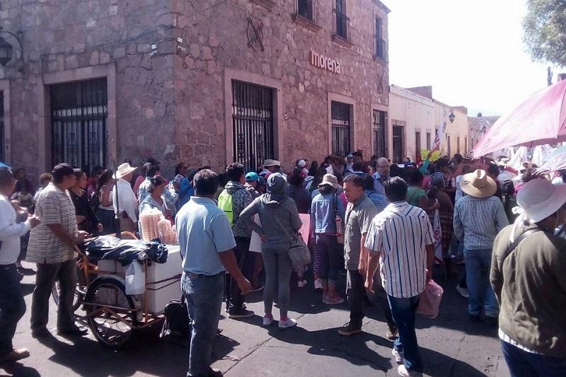 Se trata de la segunda manifestación de inconformidad por el mismo tema en Morelia