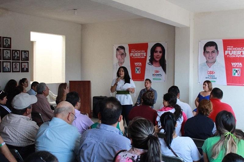 Xóchitl Ruiz, se reunió también con la estructura del partido, a quienes pidió fortalecer los trabajos que permitan al PRI ganar la elección
