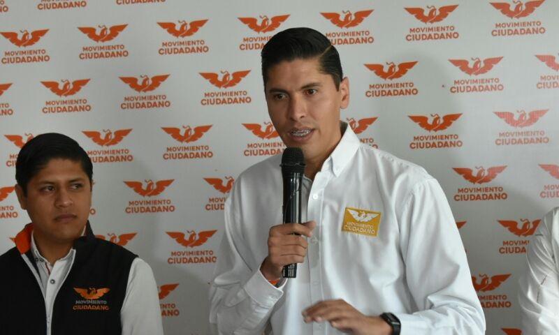El dirigente estatal del partido naranja anunció que Movimiento Ciudadano procederá legalmente para defender a su candidato Meño Antúnez ante los órganos electorales