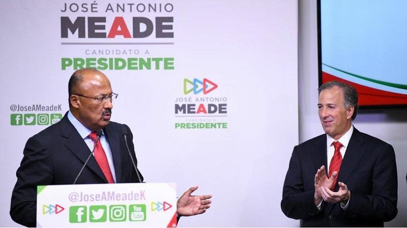 En el acto en que estuvo presente José Antonio Meade Kuribreña, candidato presidencial del PRI, PVEM y Panal, así como Aurelio Nuño, coordinador de su campaña