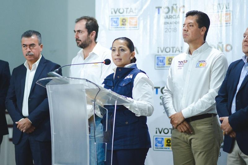 """Las propuestas presentadas por la coalición """"Por México al Frente"""" integran a todos los sectores y nos han dado fuerza para el crecimiento en la preferencia electoral"""