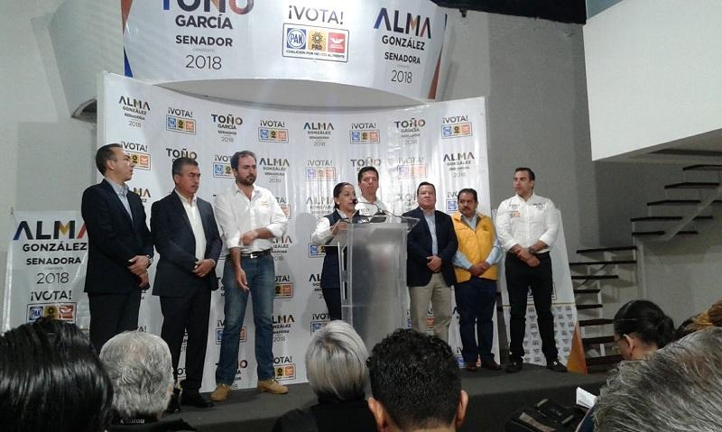 """En el último corte del pasado 3 de mayo los candidatos de la coalición """"Juntos Haremos Historia"""" tenían una preferencia de 26.22%, contra 20.50% de la coalición """"Por México al Frente (PAN-PRD-Movimiento Ciudadano)"""